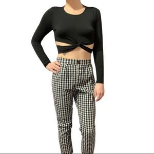 Sexy Slitted Crop Top